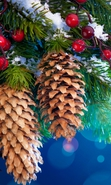 Download free mobile wallpaper 32283: Background,New Year,Holidays,Cones for phone or tab. Download images, backgrounds and wallpapers for mobile phone for free.