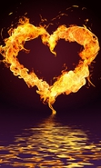 Download free mobile wallpaper 32344: Background,Fire,Hearts for phone or tab. Download images, backgrounds and wallpapers for mobile phone for free.