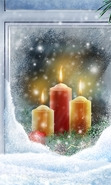 Download free mobile wallpaper 41564: Background,Pictures,Snow,Candles for phone or tab. Download images, backgrounds and wallpapers for mobile phone for free.