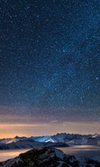 Download free mobile wallpaper 34446: Mountains,Night,Landscape,Stars for phone or tab. Download images, backgrounds and wallpapers for mobile phone for free.