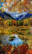 Download free mobile wallpaper 32657: Mountains,Autumn,Landscape,Rivers for phone or tab. Download images, backgrounds and wallpapers for mobile phone for free.