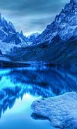 Download free mobile wallpaper 2374: Landscape, Winter, Water, Mountains, Lakes for phone or tab. Download images, backgrounds and wallpapers for mobile phone for free.