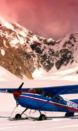 Download free mobile wallpaper 44232: Mountains,Landscape,Nature,Airplanes,Snow,Transport for phone or tab. Download images, backgrounds and wallpapers for mobile phone for free.