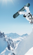 Download free mobile wallpaper 47344: Mountains,Landscape,Snow,Snowboarding,Sports for phone or tab. Download images, backgrounds and wallpapers for mobile phone for free.