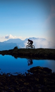 Download free mobile wallpaper 33771: Mountains,Landscape,Sports,Bicycles for phone or tab. Download images, backgrounds and wallpapers for mobile phone for free.