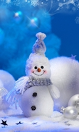 Download free mobile wallpaper 34819: Toys,Snowman,New Year,Holidays for phone or tab. Download images, backgrounds and wallpapers for mobile phone for free.