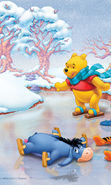 Download free mobile wallpaper 10868: Cartoon, Winter, ice, Snow, Drawings, Winnie the Pooh for phone or tab. Download images, backgrounds and wallpapers for mobile phone for free.