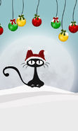 Download free mobile wallpaper 10362: Holidays, Cats, New Year, Christmas, Xmas, Drawings for phone or tab. Download images, backgrounds and wallpapers for mobile phone for free.
