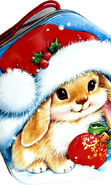 Download free mobile wallpaper 10842: Holidays, Rabbits, New Year for phone or tab. Download images, backgrounds and wallpapers for mobile phone for free.