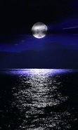 Download free mobile wallpaper 34374: Moon,Sea,Night,Landscape for phone or tab. Download images, backgrounds and wallpapers for mobile phone for free.