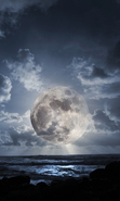 Download free mobile wallpaper 30483: Moon,Sea,Landscape for phone or tab. Download images, backgrounds and wallpapers for mobile phone for free.