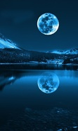 Download free mobile wallpaper 50020: Moon,Night,Lakes,Landscape,Nature for phone or tab. Download images, backgrounds and wallpapers for mobile phone for free.