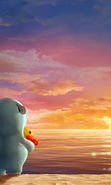 Download free mobile wallpaper 11268: Cartoon, Sunset, Sky, Sea, Sun, Clouds for phone or tab. Download images, backgrounds and wallpapers for mobile phone for free.