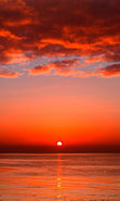 Download free mobile wallpaper 22343: Sea, Clouds, Landscape, Sun, Sunset for phone or tab. Download images, backgrounds and wallpapers for mobile phone for free.