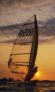 Download free mobile wallpaper 10217: Sport, Sunset, Sea, Windsurfing for phone or tab. Download images, backgrounds and wallpapers for mobile phone for free.