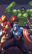 Download free mobile wallpaper 15563: Cartoon, Pictures, The Avengers for phone or tab. Download images, backgrounds and wallpapers for mobile phone for free.