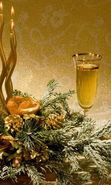 Download free mobile wallpaper 22654: Drinks, Still life, New Year, Holidays, Candles, Vine for phone or tab. Download images, backgrounds and wallpapers for mobile phone for free.