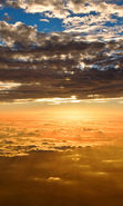 Download free mobile wallpaper 13556: Sky, Clouds, Landscape, Sunset for phone or tab. Download images, backgrounds and wallpapers for mobile phone for free.