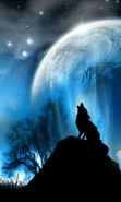Download free mobile wallpaper 22979: Sky, Landscape, Planets, Wolfs, Animals for phone or tab. Download images, backgrounds and wallpapers for mobile phone for free.