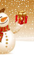 Download free mobile wallpaper 14101: Snowman, New Year, Holidays, Pictures, Christmas, Xmas for phone or tab. Download images, backgrounds and wallpapers for mobile phone for free.