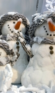 Download free mobile wallpaper 47793: Snowman,Objects for phone or tab. Download images, backgrounds and wallpapers for mobile phone for free.