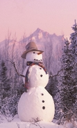 Download free mobile wallpaper 49644: Snowman,Landscape,Nature for phone or tab. Download images, backgrounds and wallpapers for mobile phone for free.
