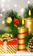 Download free mobile wallpaper 13781: New Year, Objects, Holidays, Pictures, Christmas, Xmas, Candles for phone or tab. Download images, backgrounds and wallpapers for mobile phone for free.