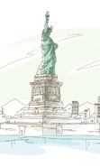 Download free mobile wallpaper 46895: Landscape,Pictures,Statue of Liberty for phone or tab. Download images, backgrounds and wallpapers for mobile phone for free.