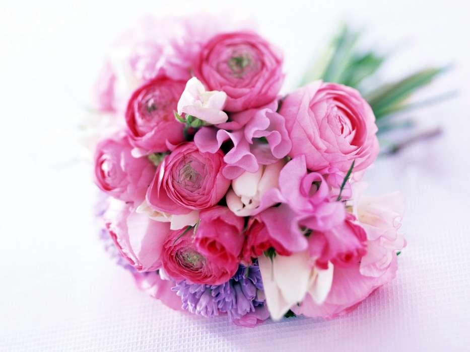 Букет цветов на 8 марта рисунок искусственные