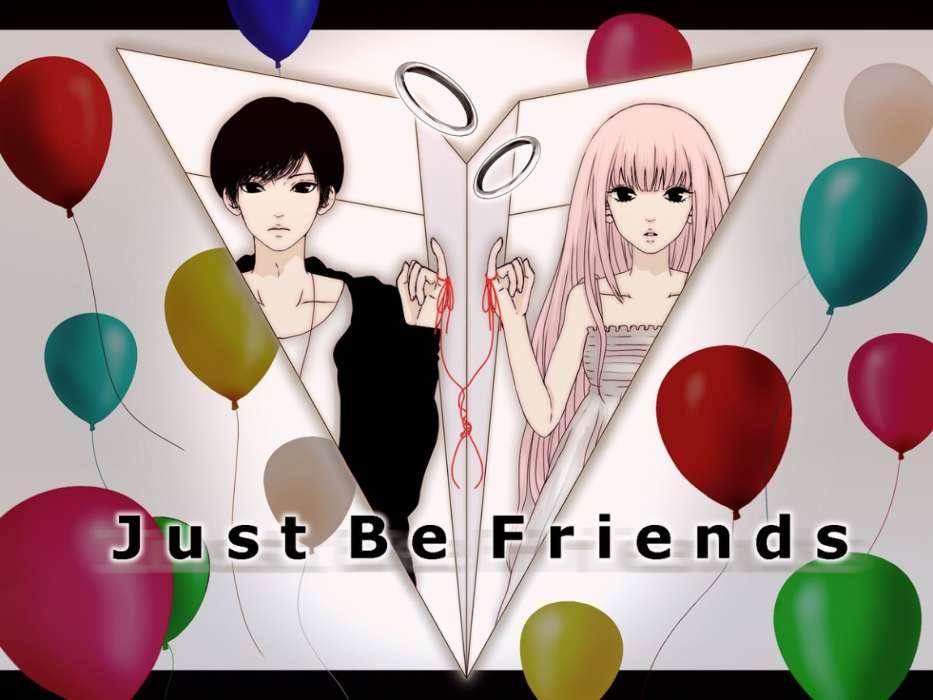 Descargar La Imagen En Telefono Anime Abstraccion Amistad Gratis 194