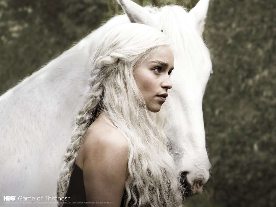 Download mobile wallpaper Cinema, Animals, People, Girls, Actors, Horses, Game of Thrones for free.