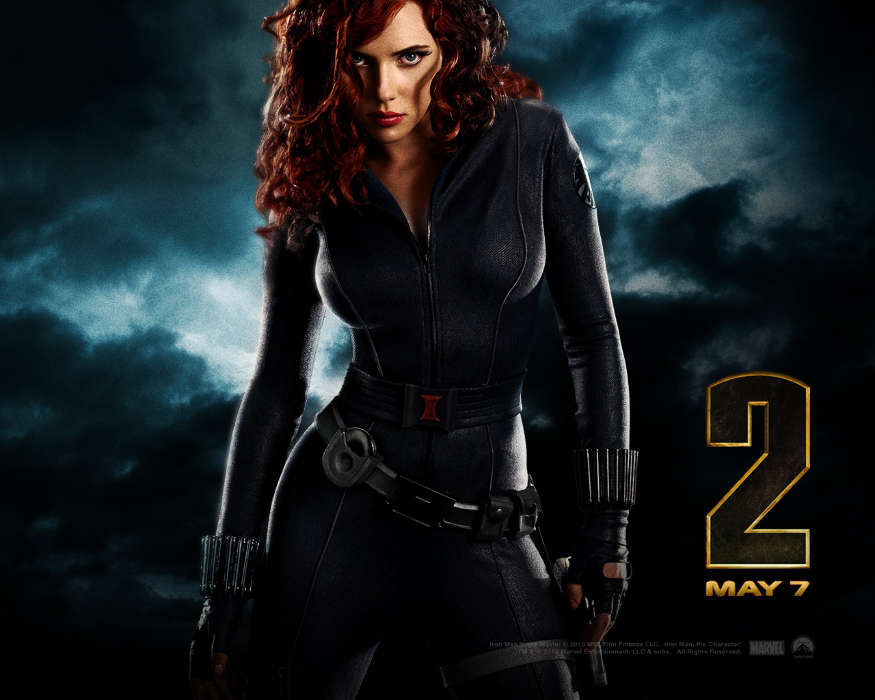 Download mobile wallpaper Cinema, People, Girls, Actors, Scarlett Johansson, Iron Man for free.
