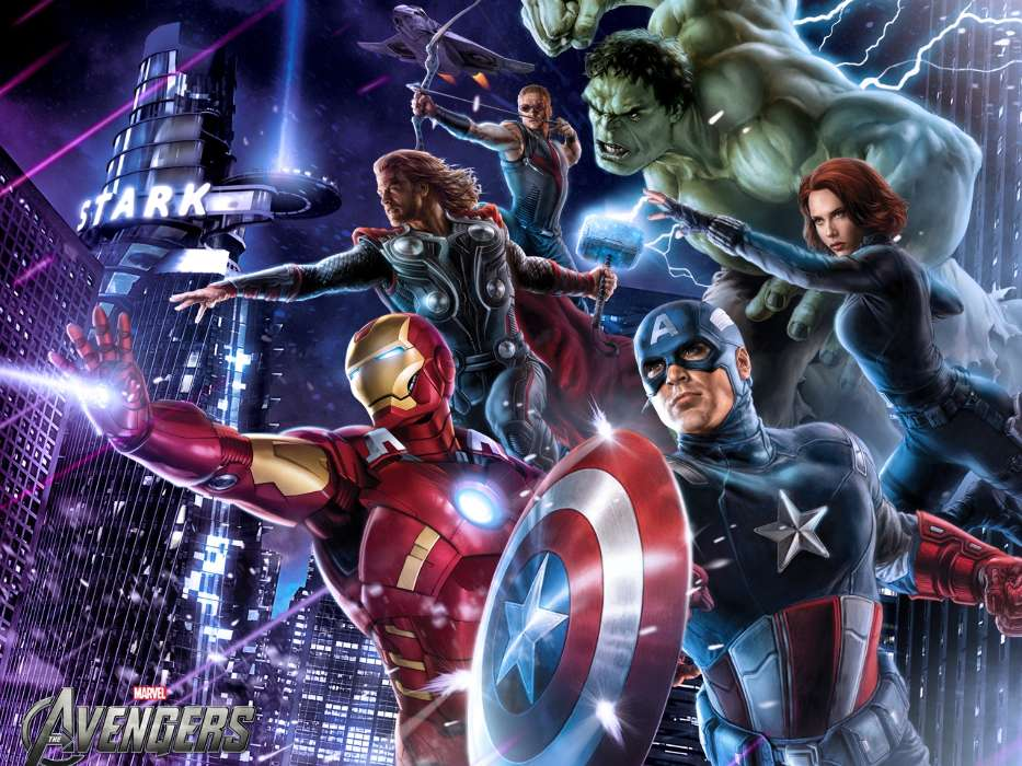 Download mobile wallpaper Cinema, Girls, Actors, Men, The Avengers for free.
