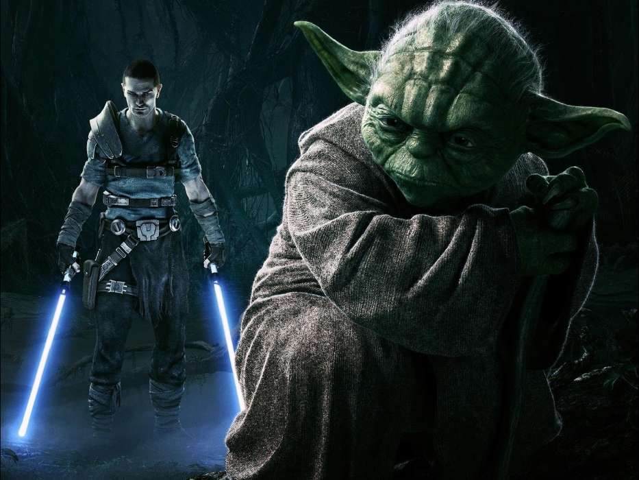 Download mobile wallpaper Cinema, People, Actors, Star wars, Master Yoda for free.