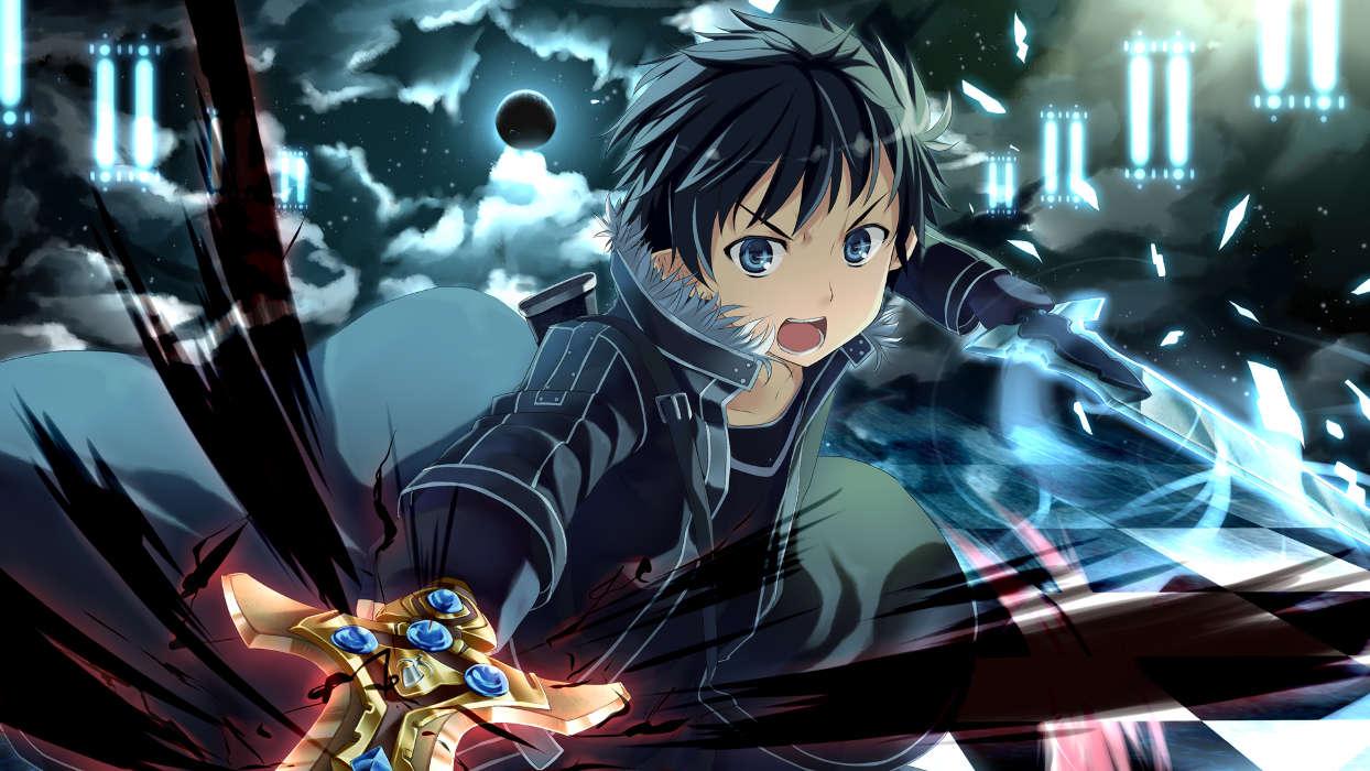 Descargar La Imagen En Teléfono: Anime, Hombres, Sword
