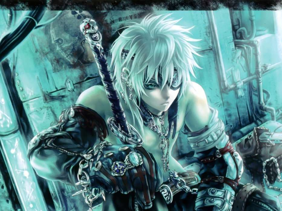 Descargar La Imagen En Teléfono: Anime, Swords, Hombres