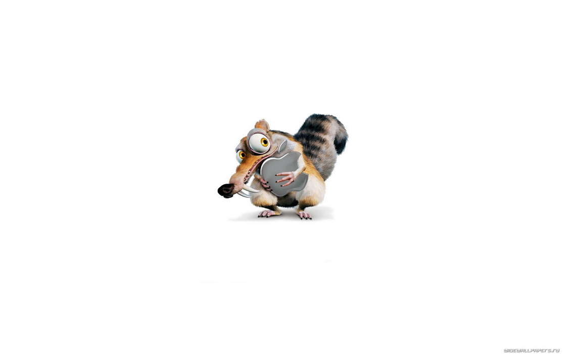 Download mobile wallpaper Brands, Logos, Apple, Scrat, Ice Age for free.