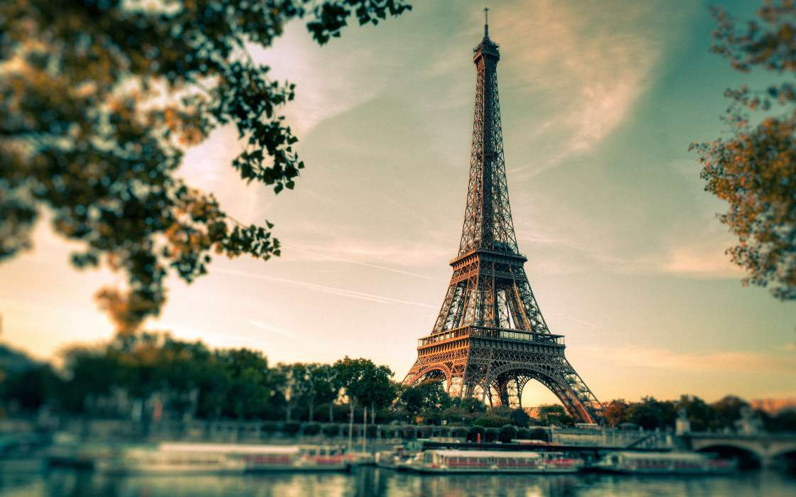 Download mobile wallpaper Landscape, Architecture, Eiffel Tower for free.