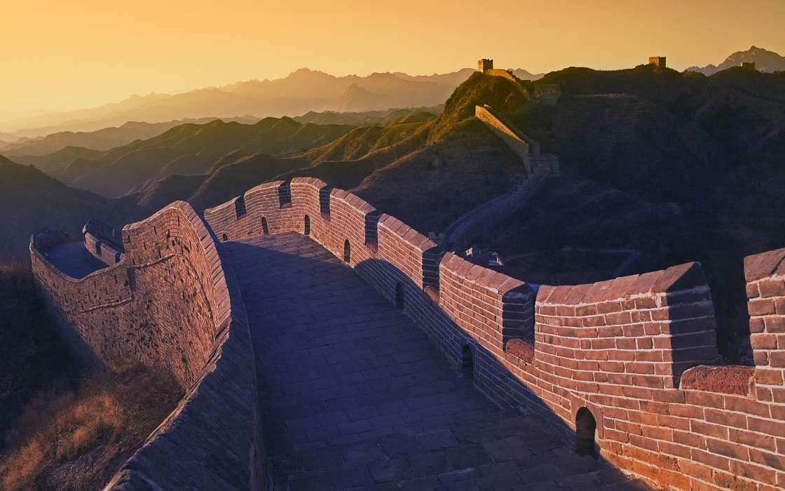 Download mobile wallpaper Landscape, Architecture, Great Wall of China for free.