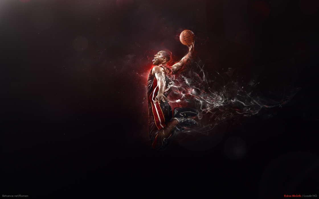 Download Mobile Wallpaper Sports Art Men Basketball Free 14625