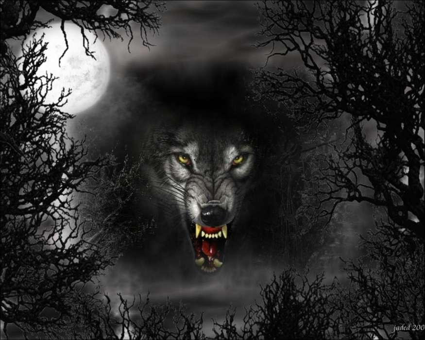 Download mobile wallpaper Animals, Wolfs, Art for free.