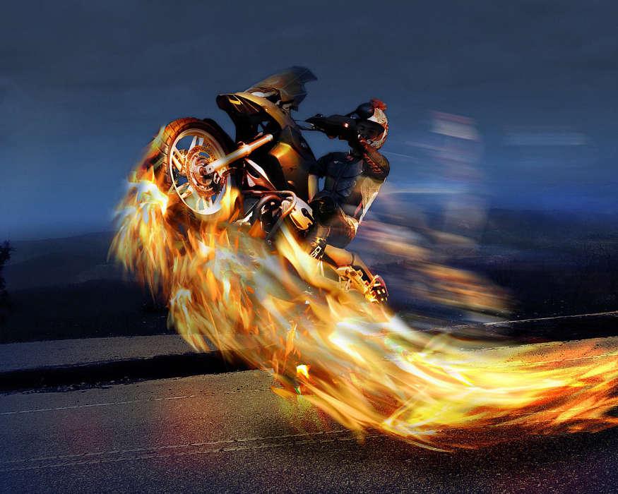 картинки велосипед огонь и вода