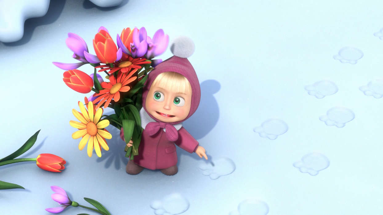Download mobile wallpaper Cartoon, Masha and the Bear for free.