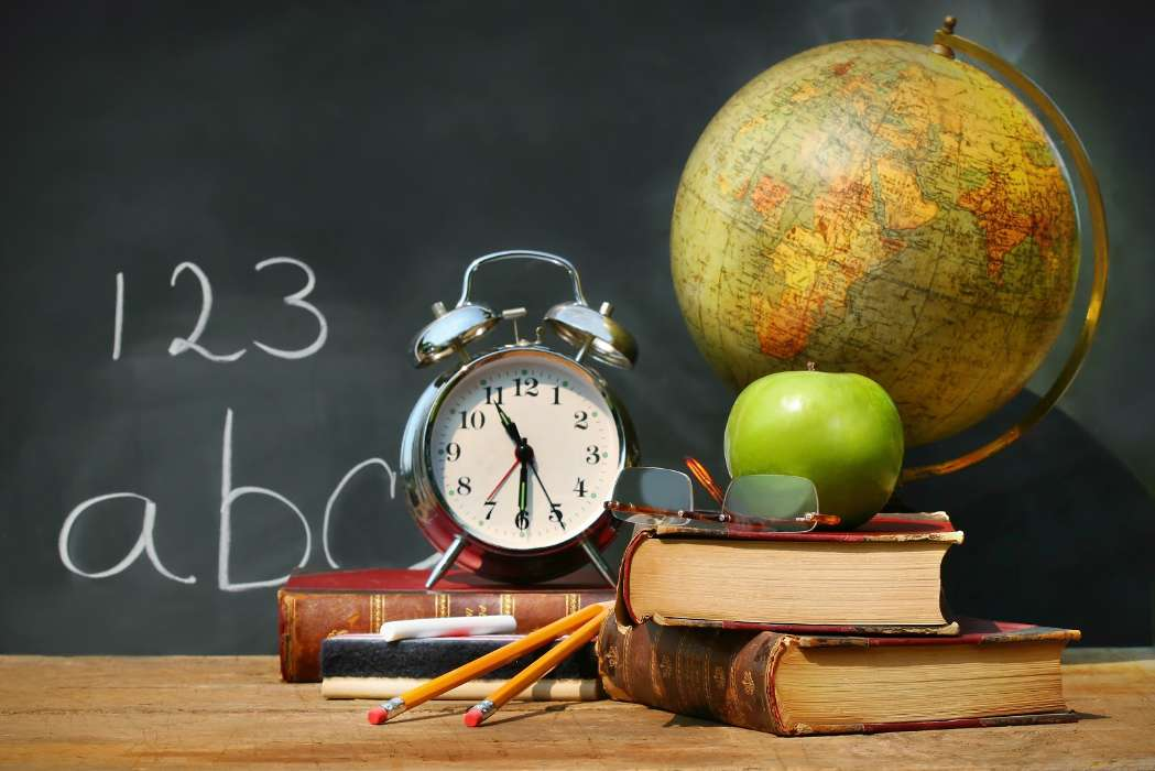 Download mobile wallpaper Objects, Books, Clock, Still life for free.