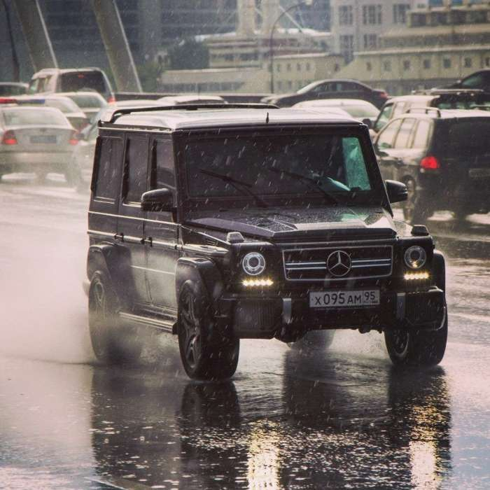 Download mobile wallpaper Transport, Auto, Roads, Rain, Mersedes for free.