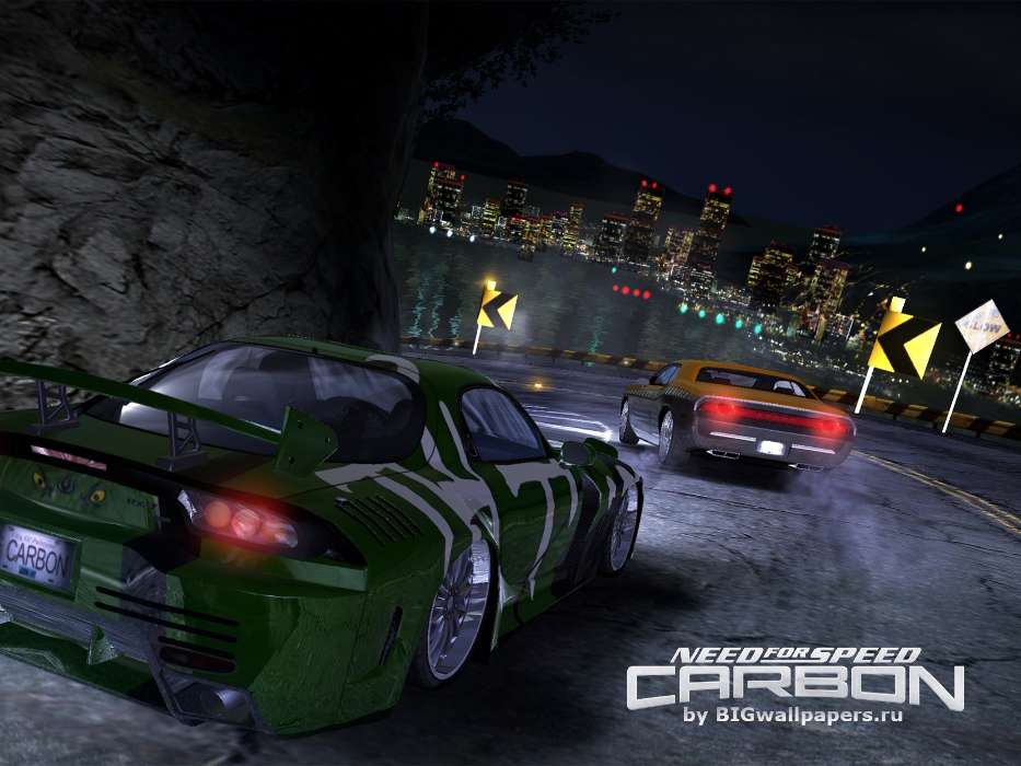 Download mobile wallpaper Transport, Games, Auto, Roads, Need for Speed, Mazda, Carbon for free.