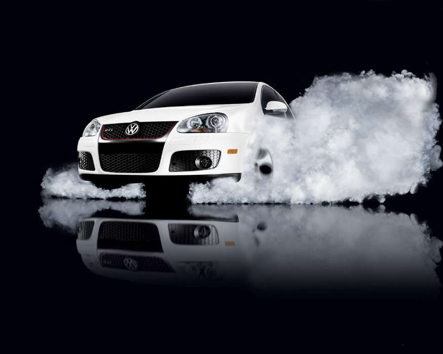 Download mobile wallpaper Transport, Auto, Smoke, Volkswagen for free.