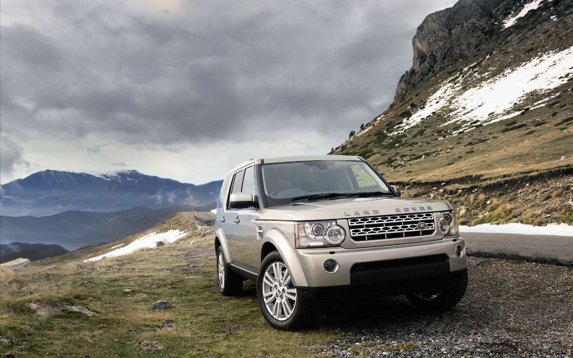 Download mobile wallpaper Transport, Landscape, Auto, Mountains, Range Rover for free.