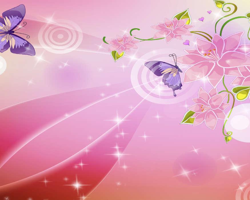 Los Fondos De Pantalla Animados Deportes Para Android: Descargar La Imagen En Teléfono: Mariposas, Flores