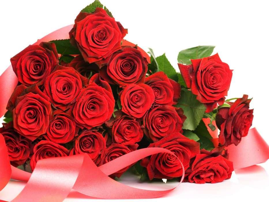 Букет роз на открытку, открытка для